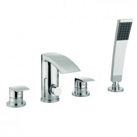 Adora Flow Bath Shower Mixer 4 Hole Set