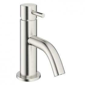 Crosswater Mike Pro Brushed Stainless Steel Mini Basin Monobloc