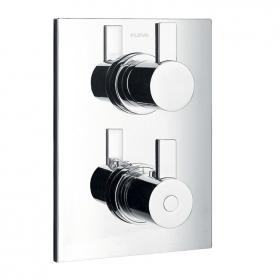 Flova STR8 Thermostatic Shower Valve with 2  Way Diverter