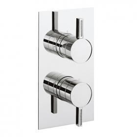 Crosswater Sparkle Thermostatic Shower Valve with 2 Way Diverter
