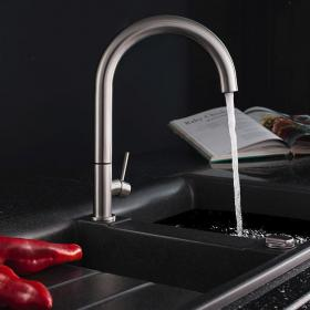 Crosswater Cucina Tube Round Side Lever Kitchen Mixer