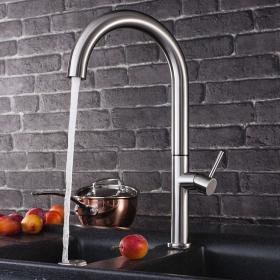 Crosswater Cucina Tube Tall Round Side Lever Kitchen Mixer