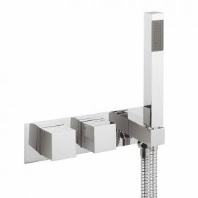 Photo of Crosswater Water Square Thermostatic Shower Valve with Handset