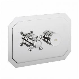 Crosswater Dial Landscape Shower Valve 1 Control with Belgravia Trim