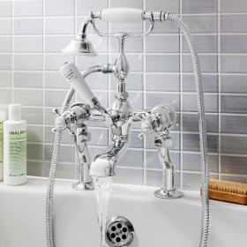 Crosswater Belgravia Crosshead Bath Shower Mixer with Kit