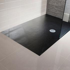 Simpsons 1500 x 800mm Black Slate Textured Effect Shower Tray