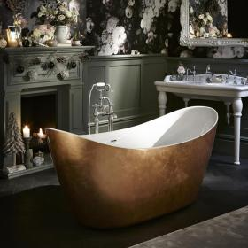 Heritage Hylton 1730mm Copper Effect Freestanding Acrylic Bath
