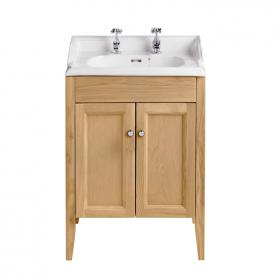 Heritage Caversham Oak Vanity Unit & Dorchester Basin