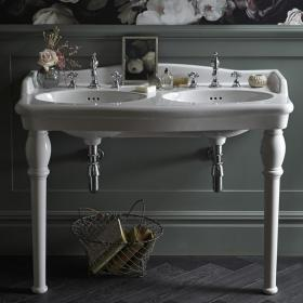 Photo of Heritage Victoria Double Console Basin & Legs