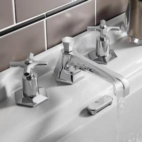 Crosswater Waldorf Chrome Crosshead Taps