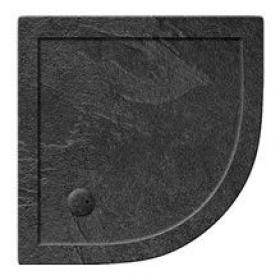 Simpsons 35mm Grey Slate Effect Quadrant Shower Tray