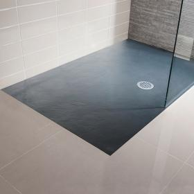 Simpsons 1500 x 800mm Grey Slate Textured Effect Shower Tray