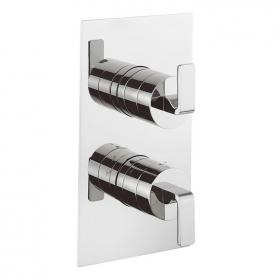 Crosswater Kelly Hoppen Zero 1 Thermostatic Twin Shower Valve