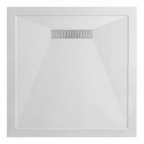 Simpsons 900mm Square 25mm Stone Resin Shower Tray Inc Linear Waste