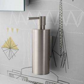 Crosswater Mike Pro Brushed Stainless Steel Soap Dispenser