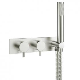 Crosswater Mike Pro Brushed Stainless Steel Shower Valve with Kit