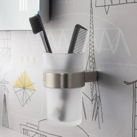 Crosswater Mike Pro Brushed Stainless Steel Tumbler Holder