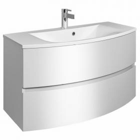 Bauhaus Svelte White Gloss 100 Vanity Unit & Basin