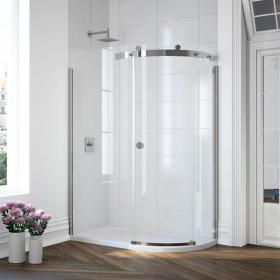 Merlyn 10 Series 1 Door Offset Quadrant Shower Door - 1400 x 800mm
