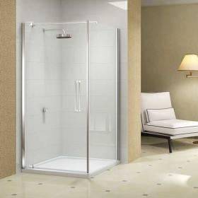 Merlyn 10 Series Pivot Shower Door With Side Panel
