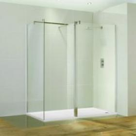 Aquaglass 1400 x 900 Walk In Shower Enclosure & Tray