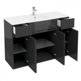 Aqua Cabinets D450 Black 1200 Combination Vanity Unit & Basin