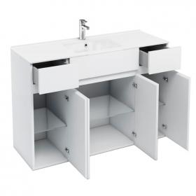 Aqua Cabinets D450 White 1200 Combination Vanity Unit & Basin