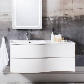 Bauhaus Svelte White Gloss 120 Vanity Unit & Basin