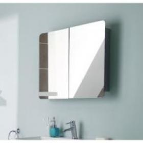 Ultra Mimic Stainless Steel Double Mirrored Cabinet