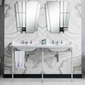 Bauhaus Waldorf 150 Three Tap Hole Double Basin with Console