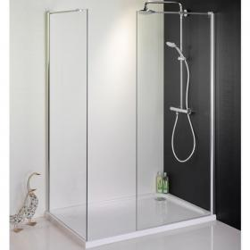 1600 x 900 Walk In Shower Enclosure, End Panel & Tray