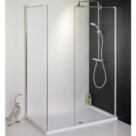 1700 X 800 Walk In Shower Enclosure, End Panel & Tray