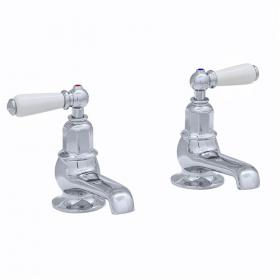 Perrin & Rowe Traditional Lever Bath Pillar Taps