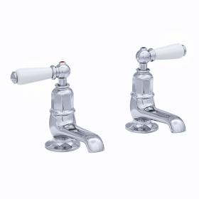 Perrin & Rowe Traditional Lever Basin Pillar Taps