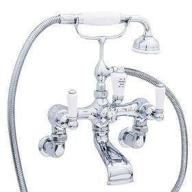 Photo of Perrin & Rowe Traditional Lever Wall Mounted Bath Shower Mixer