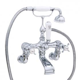 Perrin & Rowe Traditional Crosshead Wall Mounted Bath Shower Mixer