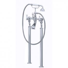 Photo of Perrin & Rowe Traditional Lever Floorstanding Bath Shower Mixer