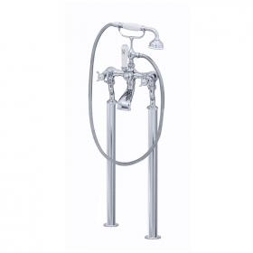 Perrin & Rowe Traditional Crosshead Floorstanding Bath Shower Mixer