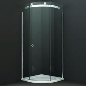 Merlyn 10 Series 900mm Quadrant Shower Door - Smoked Glass