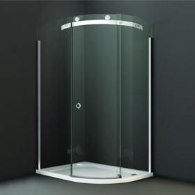 Merlyn 10 Series 1200x900mm Offset Quadrant - Smoked Glass