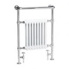 Hudson Reed Marquis Chrome & White Traditional Radiator