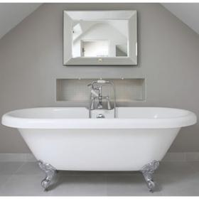 Ashford 1760mm Double Ended Roll Top Freestanding Bath