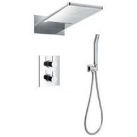 Photo of Flova STR8 Thermostatic 3 Way Diverter Shower Pack