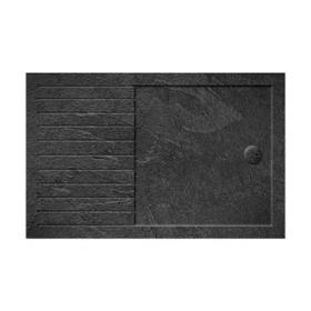 Simpsons 1700 x 800mm Grey Slate Walk In 35mm Shower Tray & Waste