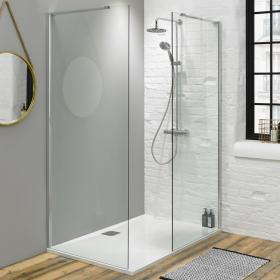Fino 1600mm Walk In Shower Enclosure with 25mm Shower Tray