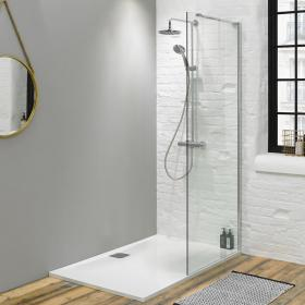 Fino 1600mm Walk In Shower with 25mm Shower Tray