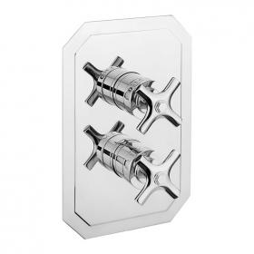 Crosswater Waldorf Chrome Crosshead 1500 Shower Valve with Two Way Diverter
