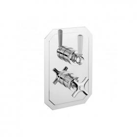 Crosswater Waldorf White Lever 1500 Shower Valve with Two Way Diverter