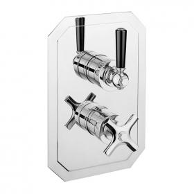 Crosswater Waldorf Black Lever 1500 Shower Valve with Two Way Diverter