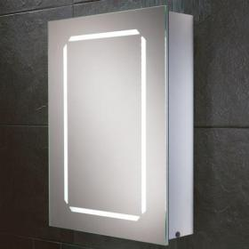 HIB Cosmic LED Demisting Aluminium Bathroom Cabinet